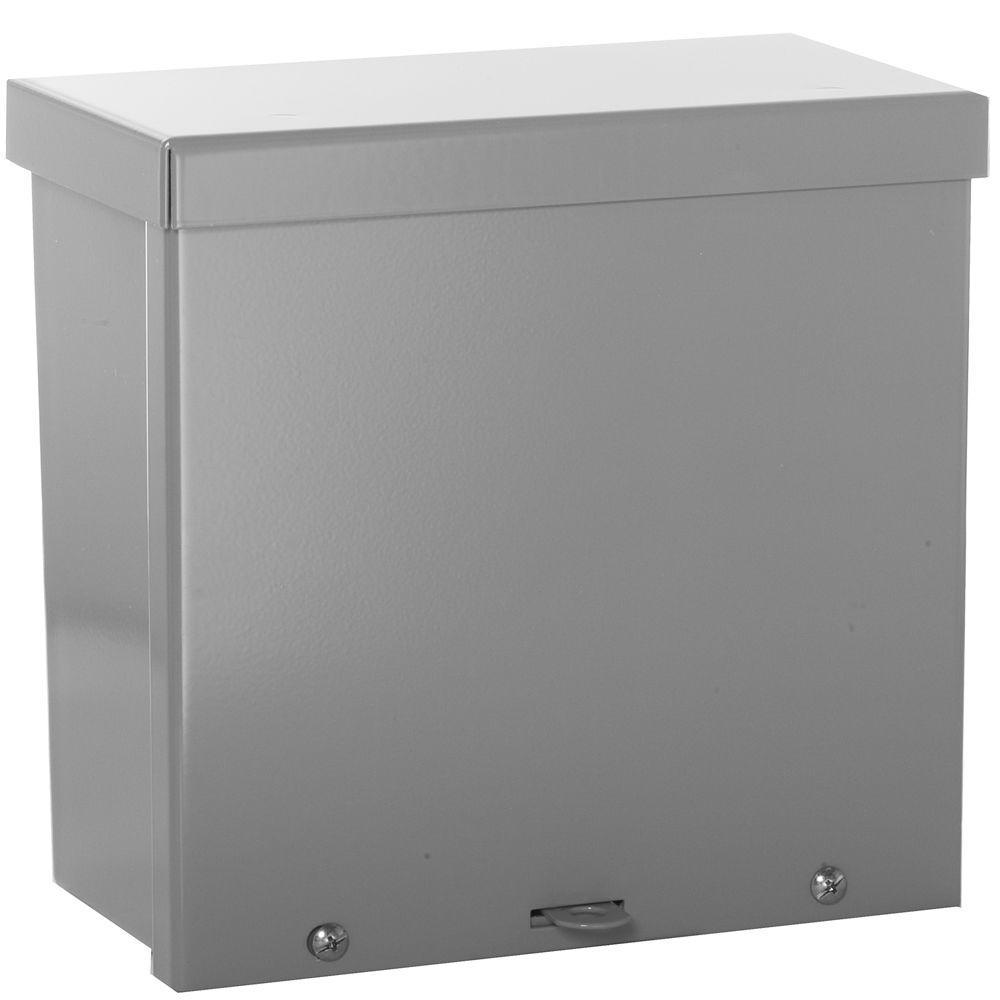 NEMA 3R Weatherproof Screw Cover Wall-Mount Carbon Steel 8X8X4