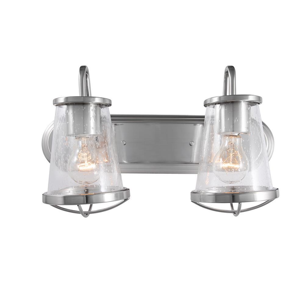 Georgina 2-Light Brushed Nickel Vanity Light
