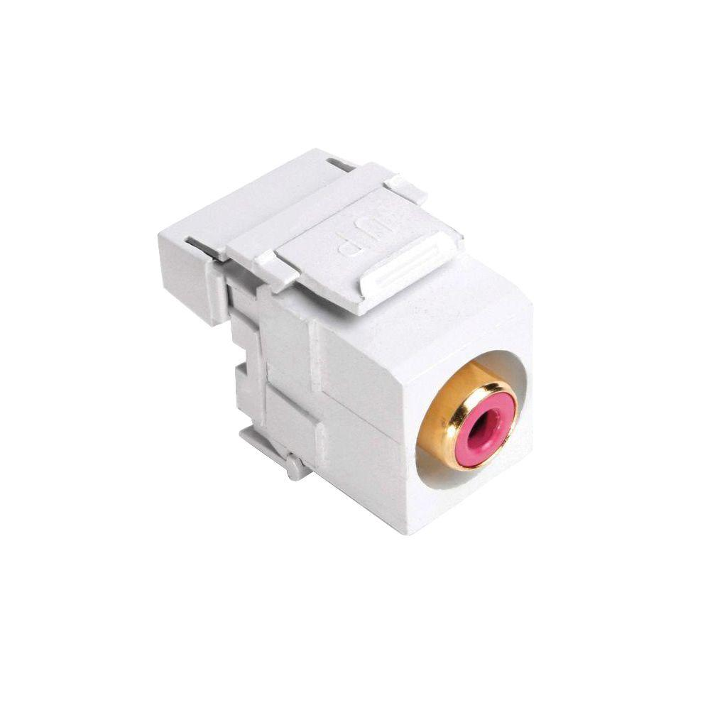 RCA 110-Termination QuickPort Connector - Red and White