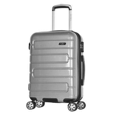 Nema 2-Piece Silver PC Exp. Carry-On Hardcase Spinner Set with TSA Lock