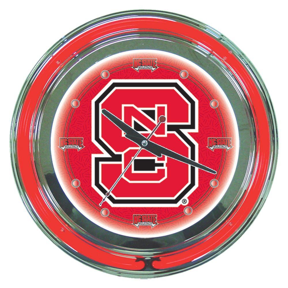 14 in. North Carolina State Neon Wall Clock