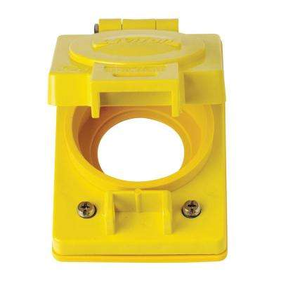 1-Gang Wetguard Corrosion Resistant Locking Flip Lid for 30 Amp Outlet , Yellow