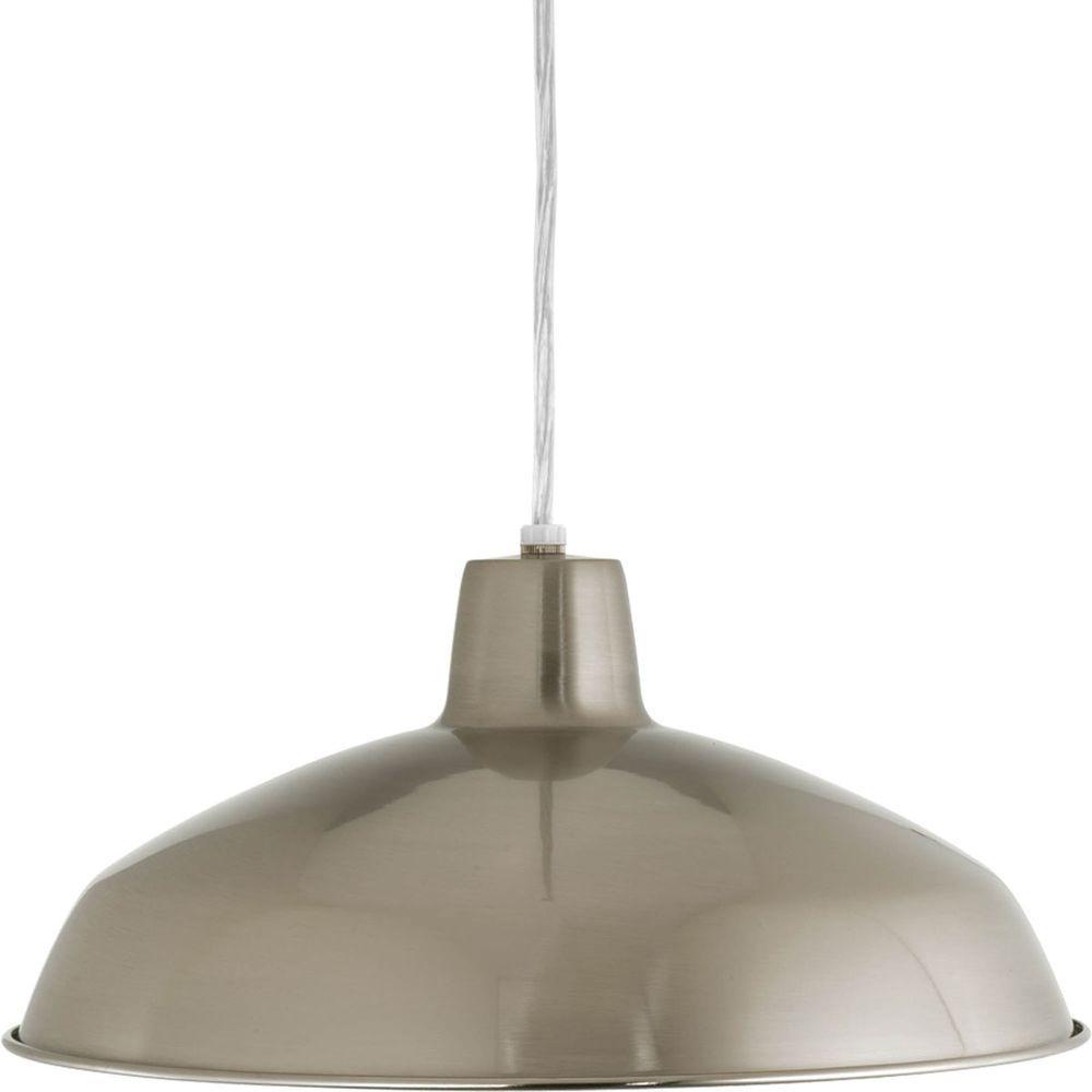 1-Light Brushed Nickel Pendant