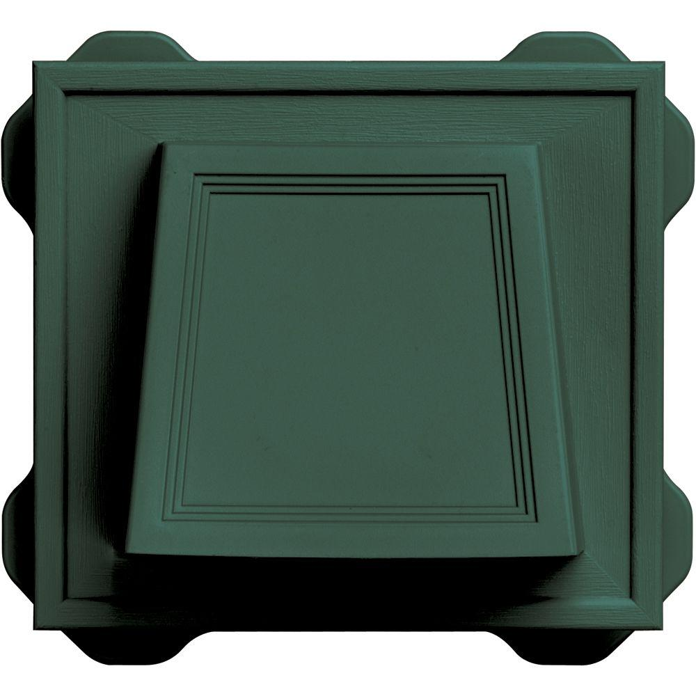 Builders Edge 4 in. Hooded Vent #028-Forest Green