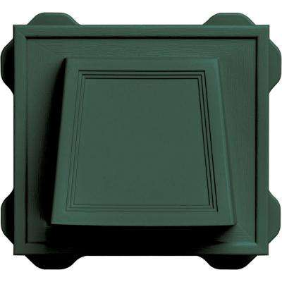 4 in. Hooded Vent #028-Forest Green