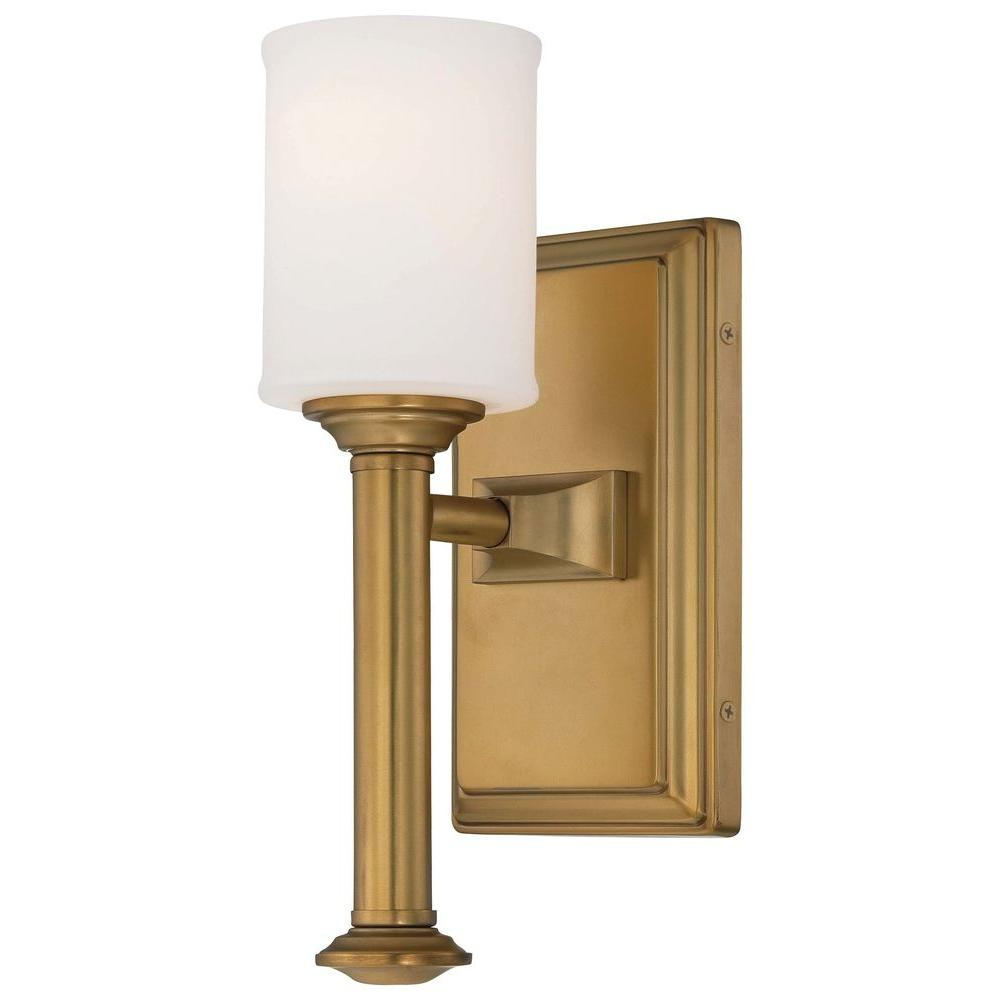 Minka Lavery Harbour Point 1-Light Liberty Gold Wall Sconce