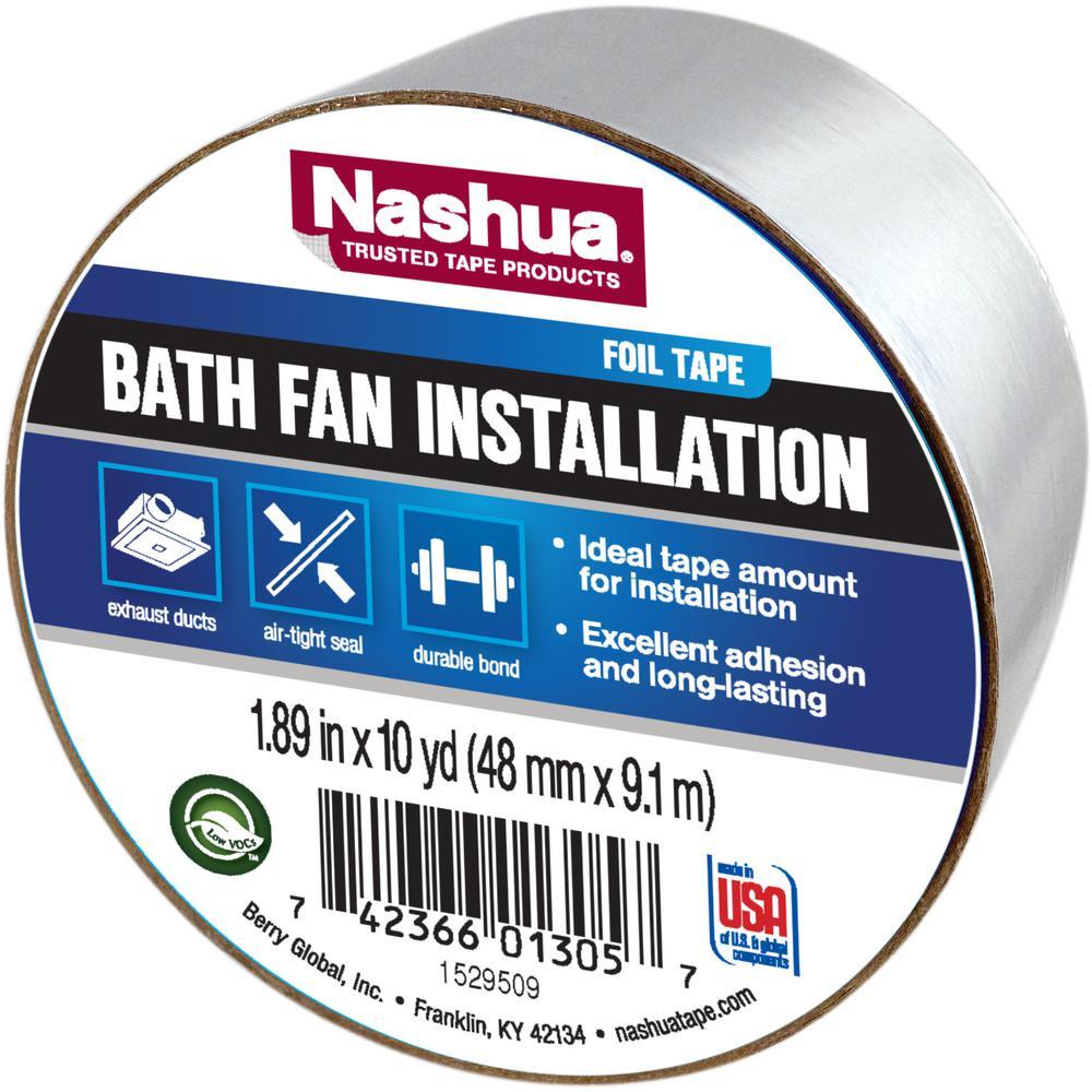 Nashua Tape 1.89 in. x 10 yds. Bath Fan Installation Tape-1246857 ...