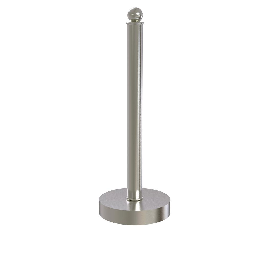 Allied Brass Contemporary Counter Top Kitchen Paper Towel Holder in Satin Nickel