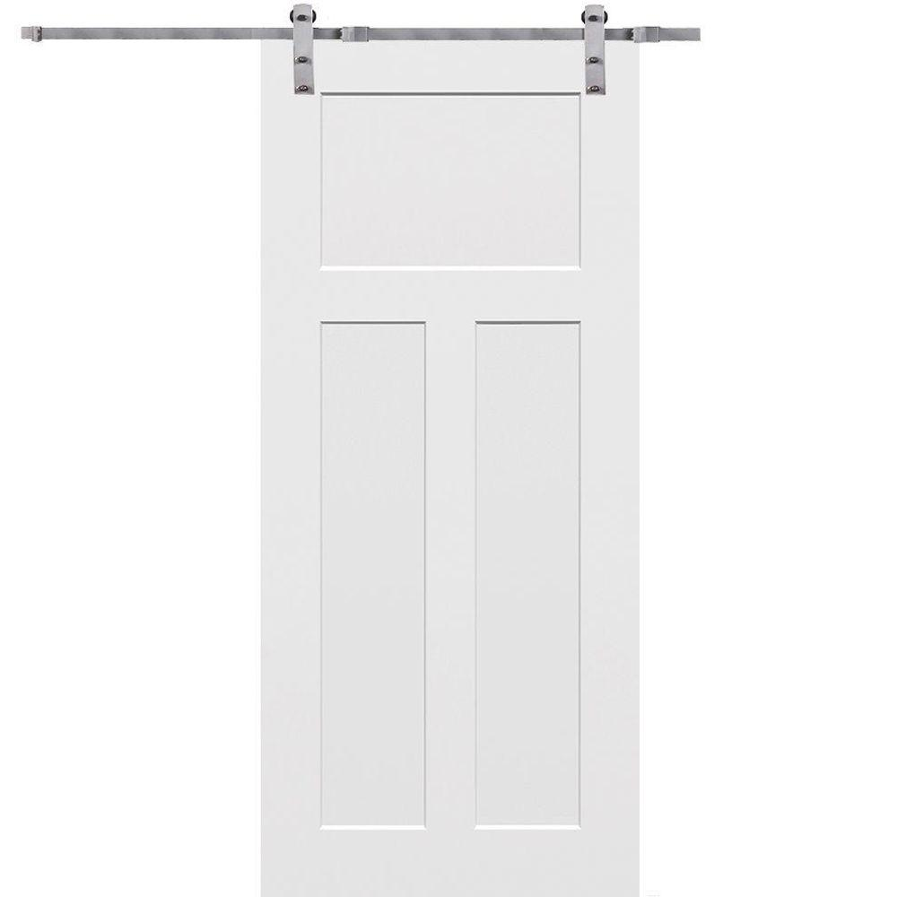 Mmi Door 36 In X 80 In Primed Craftsman Smooth Surface Solid Core