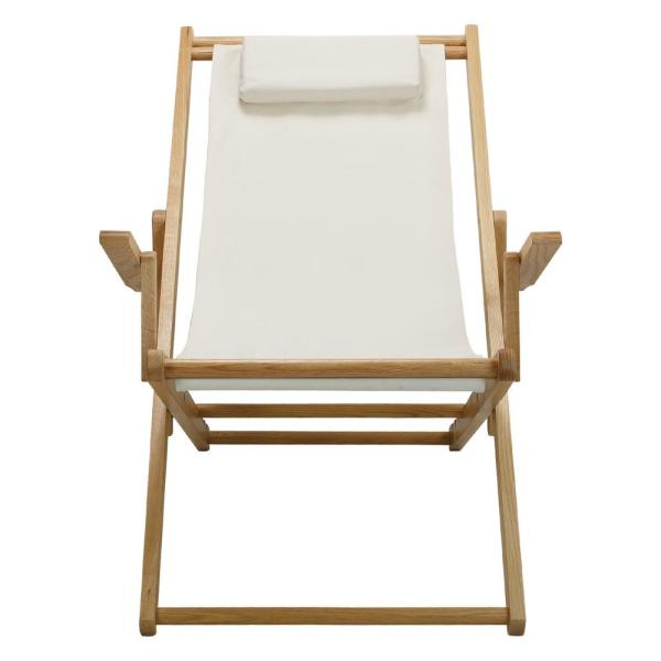 Casual Home - Natural Frame and Natural Canvas Solid Wood Sling Chair
