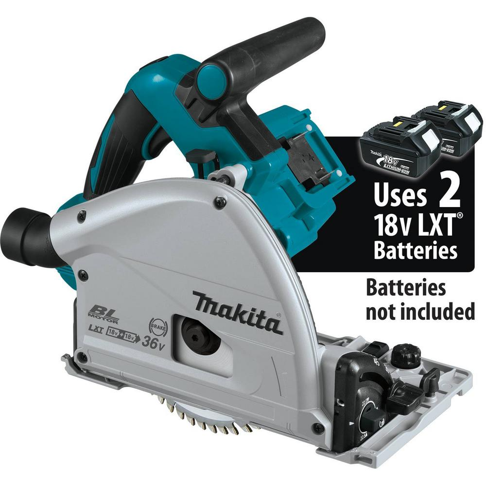 Makita 18-Volt X2 LXT Lithium-Ion (36-Volt) Brushless Cordless 6-1/2 in. Plunge Circular Saw (Tool Only)