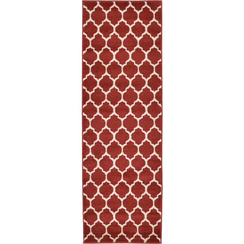 Trellis Red 2 ft. x 6 ft. Runner