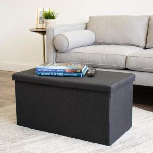 Humble Crew Brown Tray Ottoman Coffee Table With Storage
