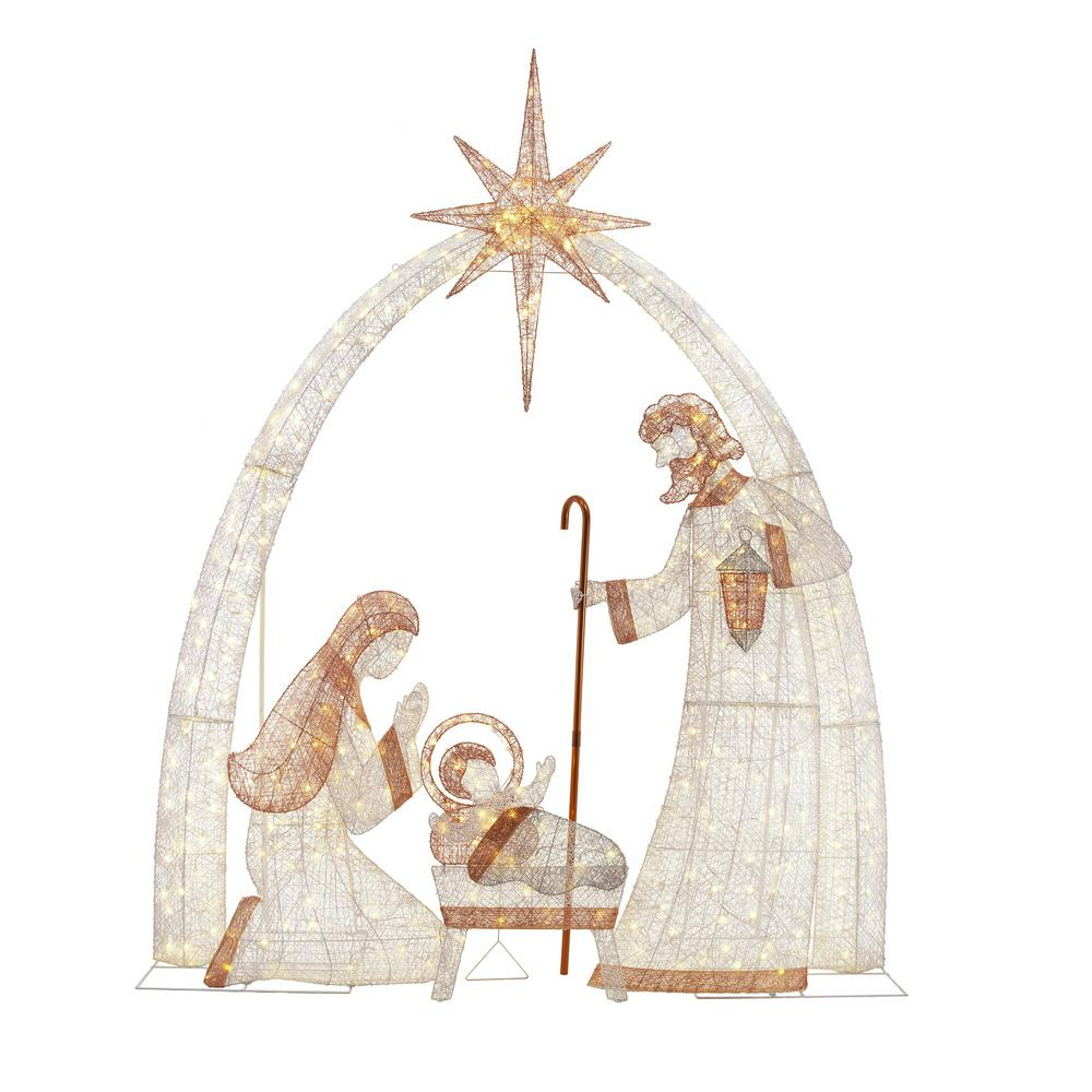 home accents holiday 120 in 440 light led giant nativity scene