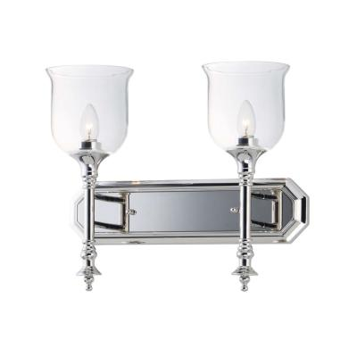 Centennial 18 in. Wide 2-Light Polished Nickel Vanity Light