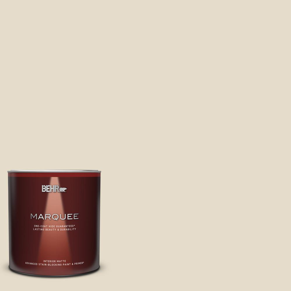 BEHR MARQUEE 1 qt. #OR-W8 Coco Malt Matte Interior Paint and Primer in One