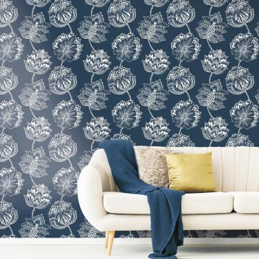 28.29 sq.ft. Batik Jacobean Peel and Stick Wallpaper