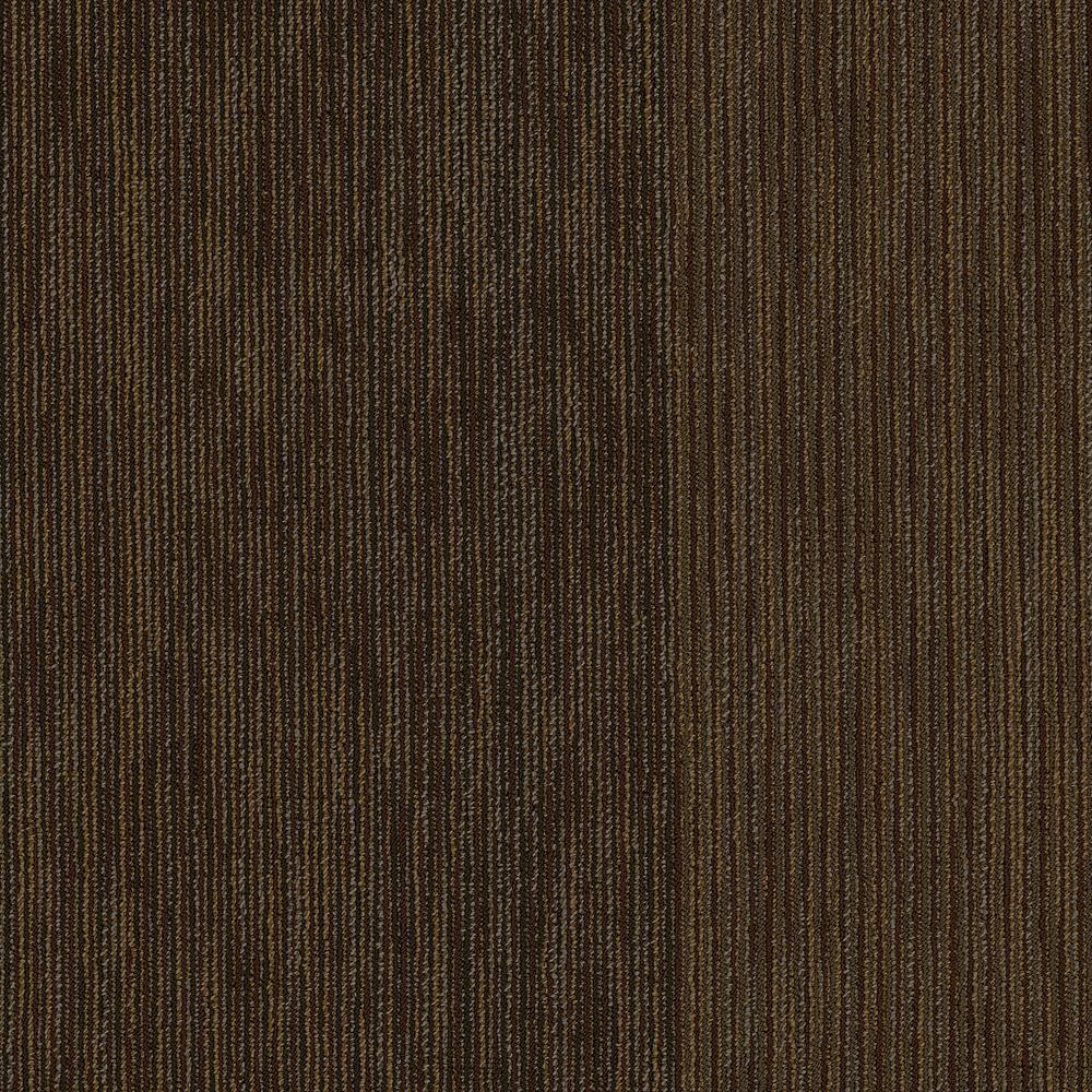 Fellowship Ginger Loop Pattern Commercial 24 in. x 24 in. Glue Down Carpet Tile (20 Tiles/Case)