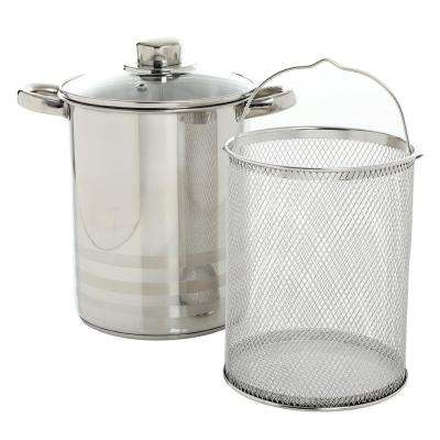 Balfour 4.2 Qt. Stainless Steel Asparagus Pot with Basket Insert