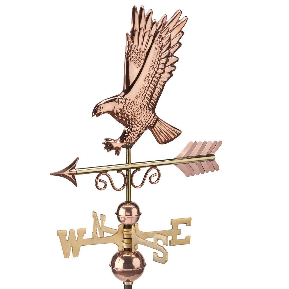 Majestic Eagle Pure Copper Weathervane