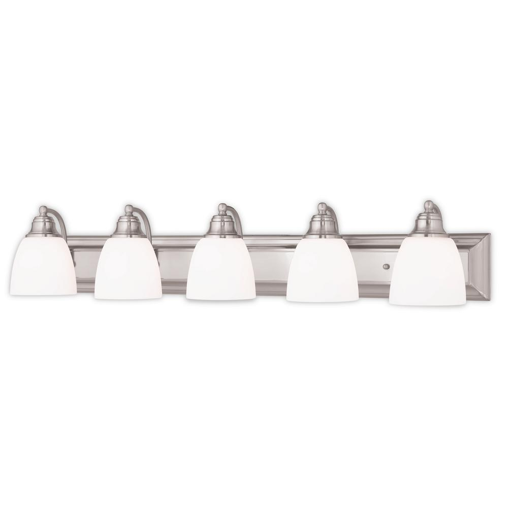 Springfield 5-Light Brushed Nickel Bath Light