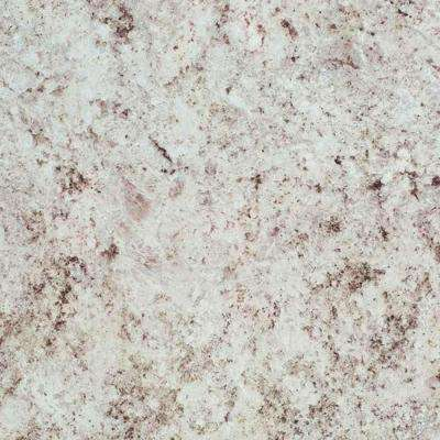 2 in. x 3 in. Laminate Countertop Sample in White Juparana with Standard Fine Velvet Texture Finish