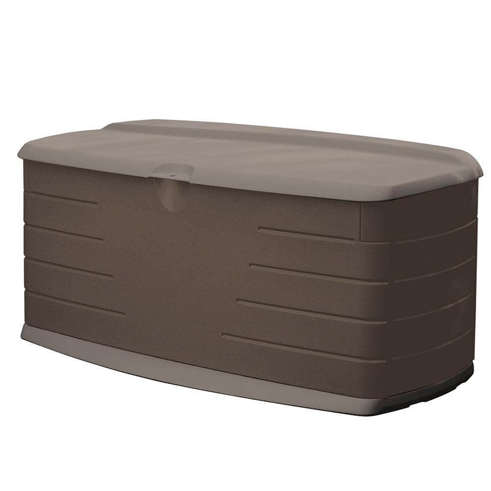 Rubbermaid 90 Gal Large Resin Deck Box With Seat 2047054