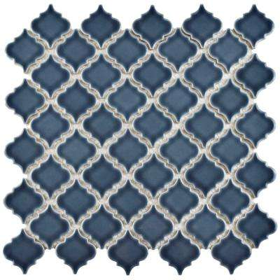 Hudson Tangier Storm Grey 12-3/8 in. x 12-1/2 in. x 5 mm Porcelain Mosaic Tile