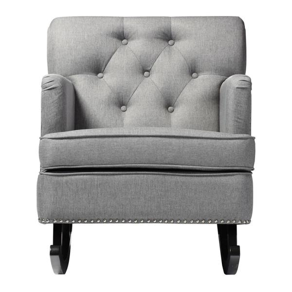 Baxton Studio Bethany Contemporary Gray Fabric Upholstered