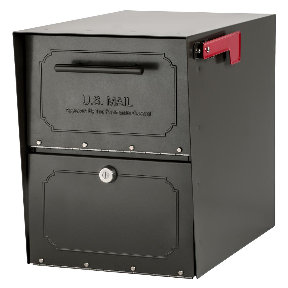 Oasis Classic Locking Post Mount Parcel Mailbox with High Security Reinforced  sc 1 st  Home Depot & Mail Boss Package Master Locking Post-Mount Mailbox with High ...