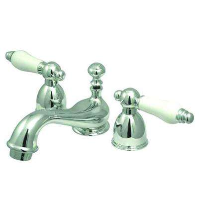 4 in. Minispread 2-Handle Low-Arc Bathroom Faucet in Chrome