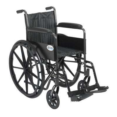 Silver Sport 2 Wheelchair with Fixed Arms, Swing Away Footrests and 18 in. Seat