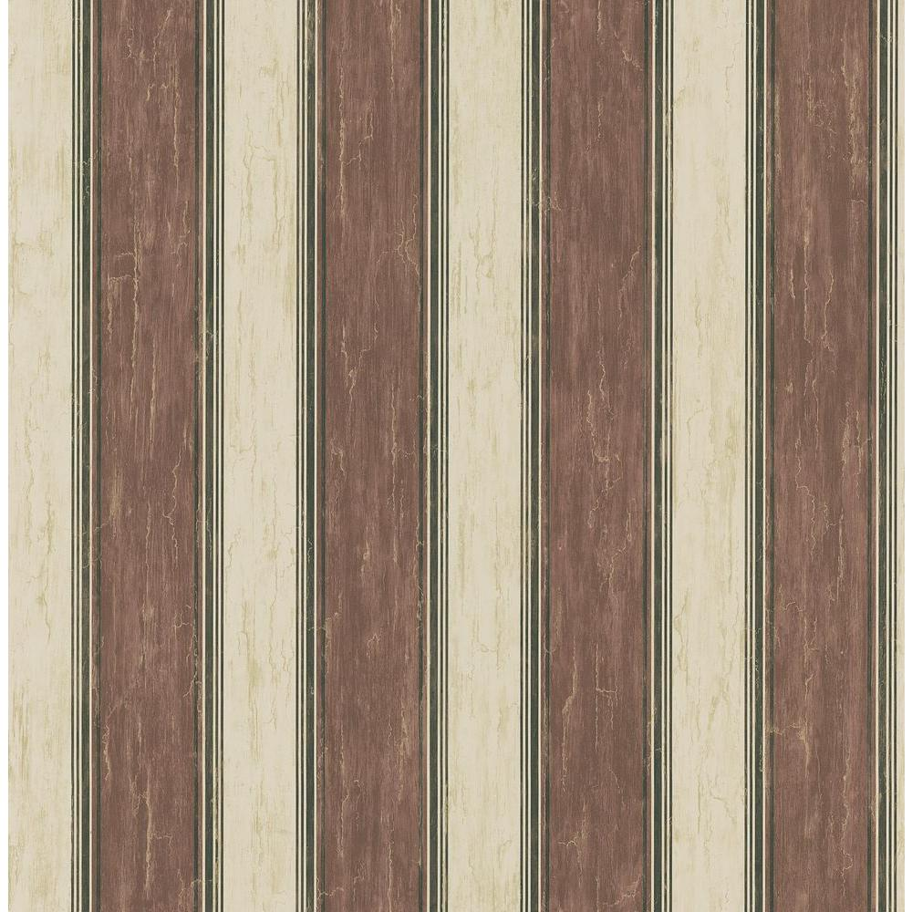 Brewster 56 sq. ft. Multi-Stripe Wallpaper