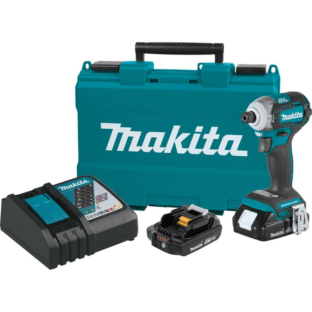 Makita 18-Volt LXT Lithium-Ion Compact Brushless Cordless Quick-Shift Mode 4-Speed Impact Driver Kit 2.0Ah
