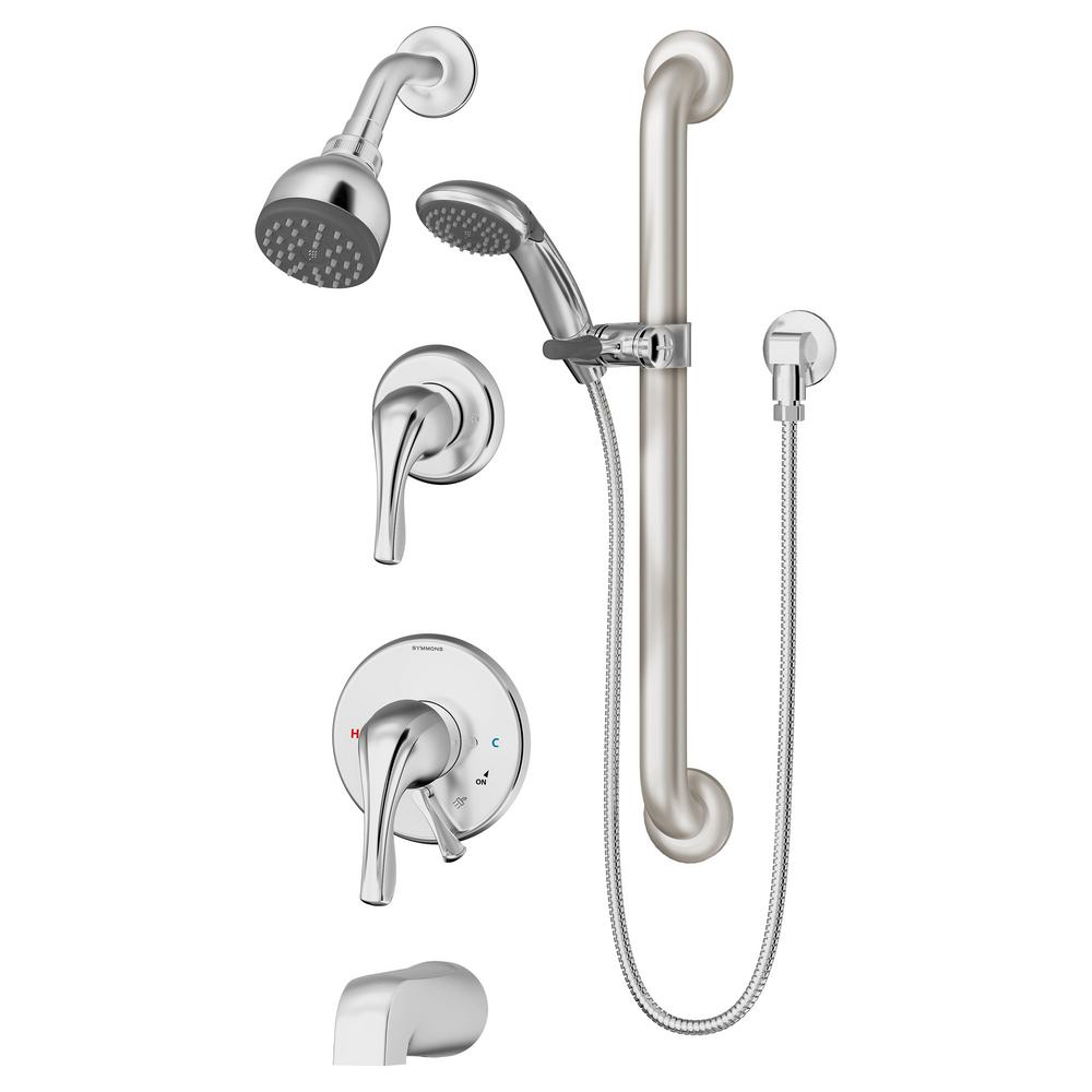 Triple handle tub and shower trim package | Plumbing Fixtures ...