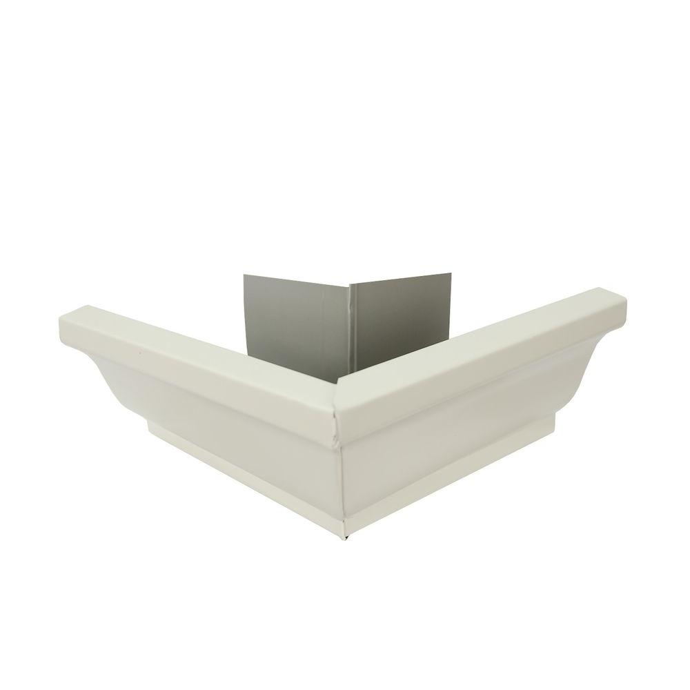Amerimax Home Products 5 in. Bone Linen Aluminum Outside Miter Box