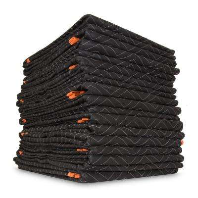72 in. x 80 in. Heavy-Duty Padded Moving Blankets (12-Pack)