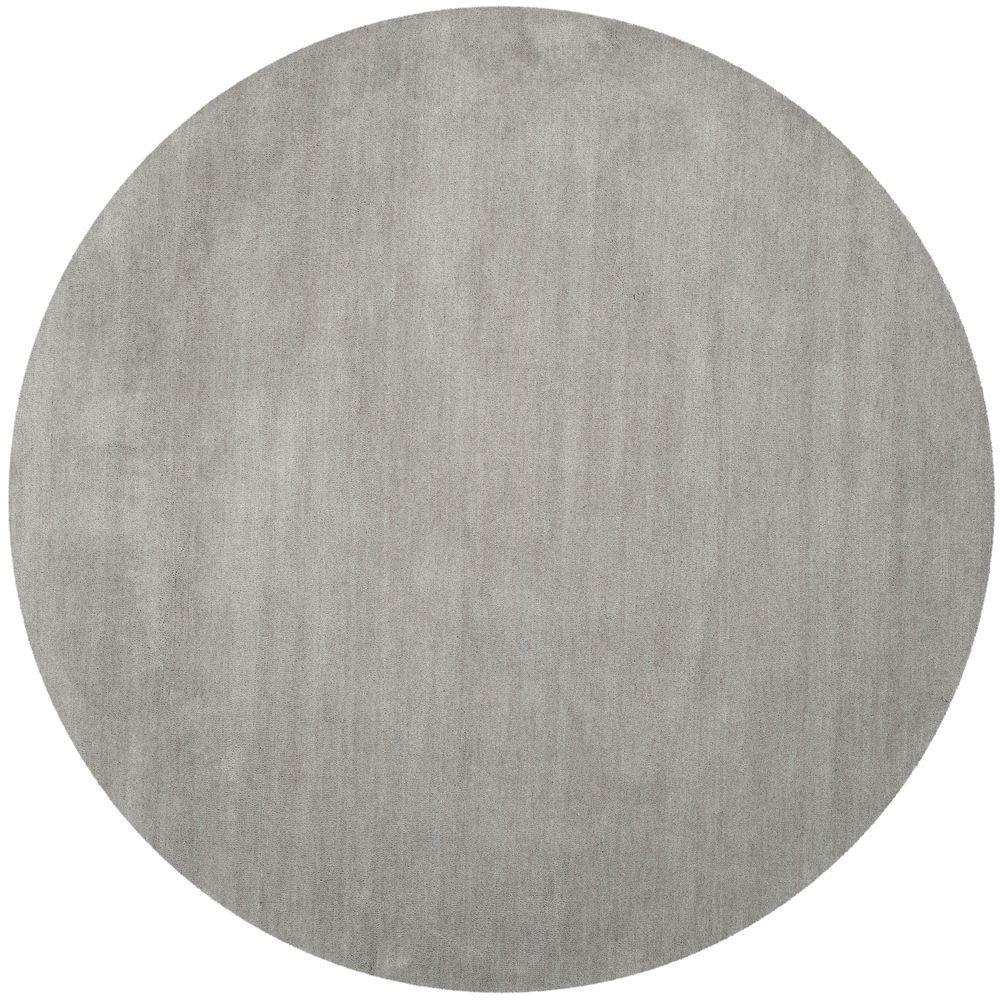 Himalaya Grey 8 ft. x 8 ft. Round Area Rug