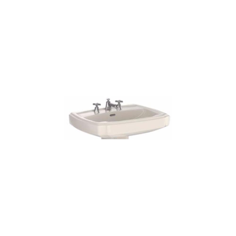 Toto Guinevere 27 In Pedestal Sink Basin With 8 In Faucet Holes In Sedona Beige Lt970 8 12