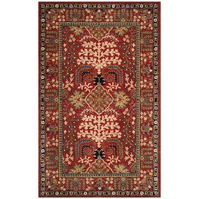 Antiquity Red Multi 4 Ft X 6 Area Rug