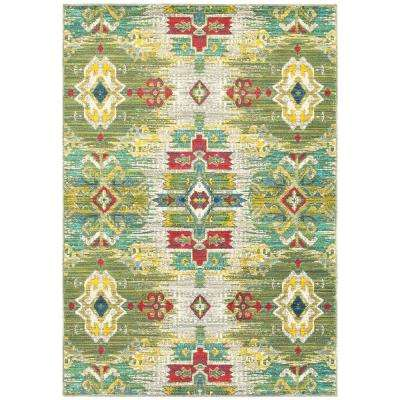 Brizo Green 8 ft. x 11 ft. Area Rug
