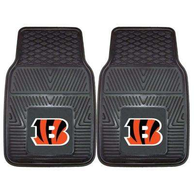 Cincinnati Bengals 18 in. x 27 in. 2-Piece Heavy Duty Vinyl Car Mat