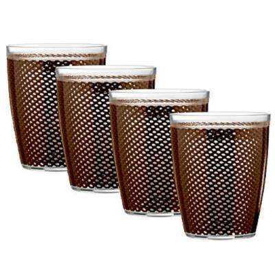 Fishnet 14 oz. Chocolate Insulated Drinkware (Set of 4)
