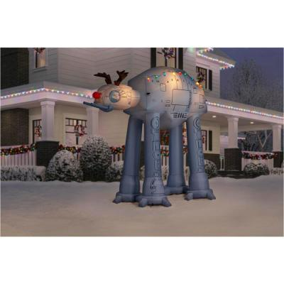 8.5 ft. Inflatable AT-AT Reindeer with Light String