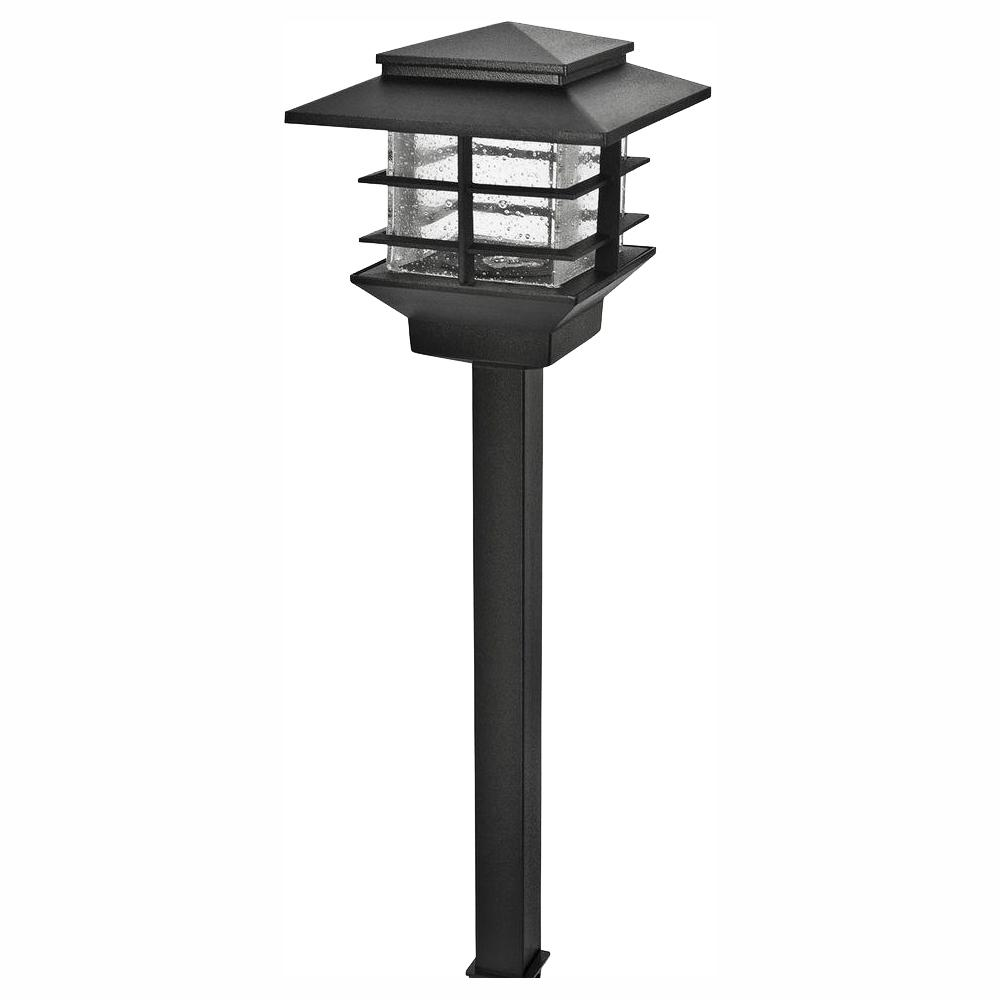 Hampton Bay Low Voltage 3 Watt Black Outdoor Integrated Led Cast Aluminum Landscape Path Light