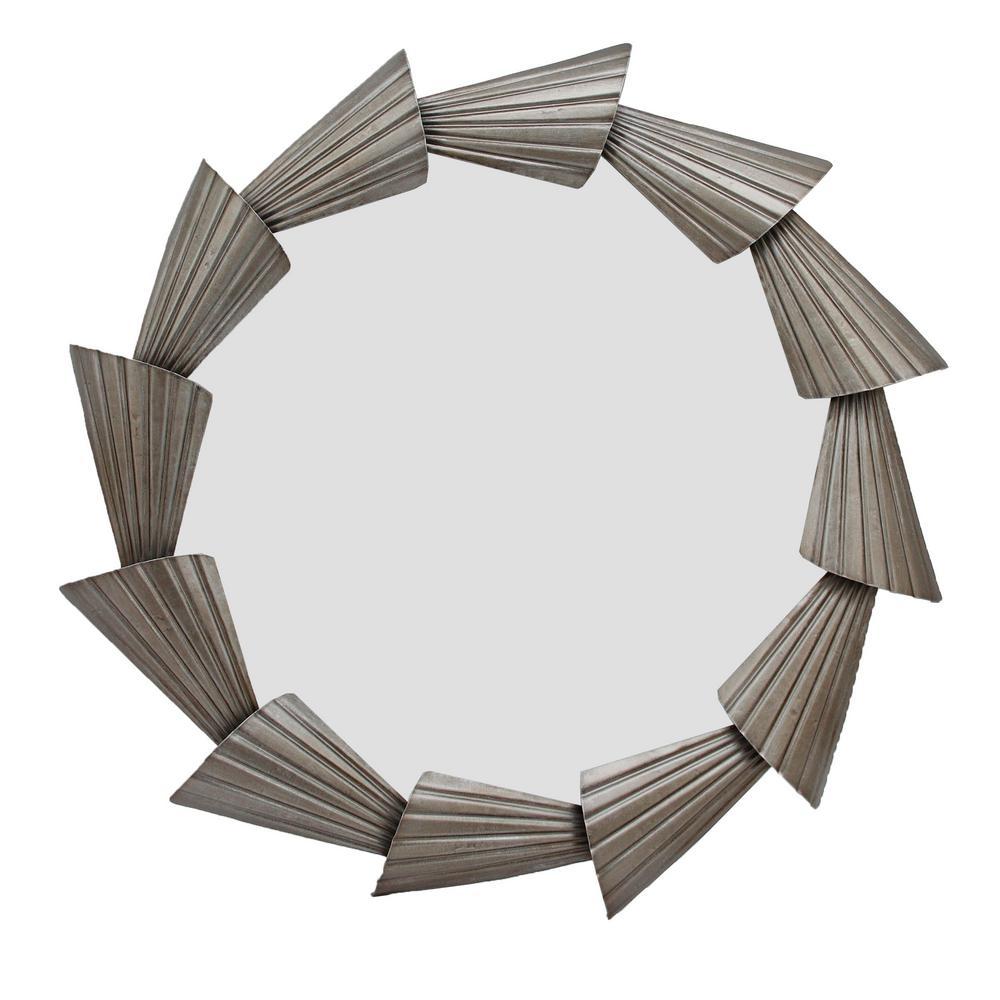Abani Silver Round Mirror