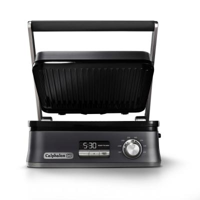 Precision 136 sq. in. Dark Stainless Steel Electric Griddle