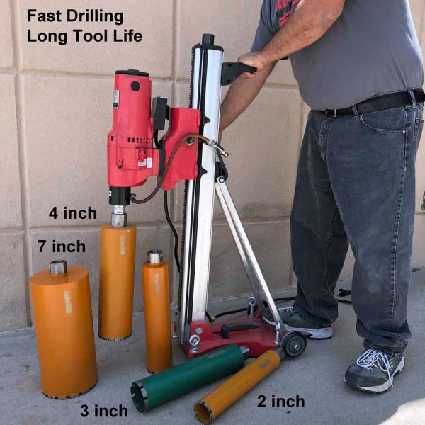 Archer Usa 8 In Diamond Core Drill Bit With V Tip For Concrete Drilling Vb800 The Home Depot