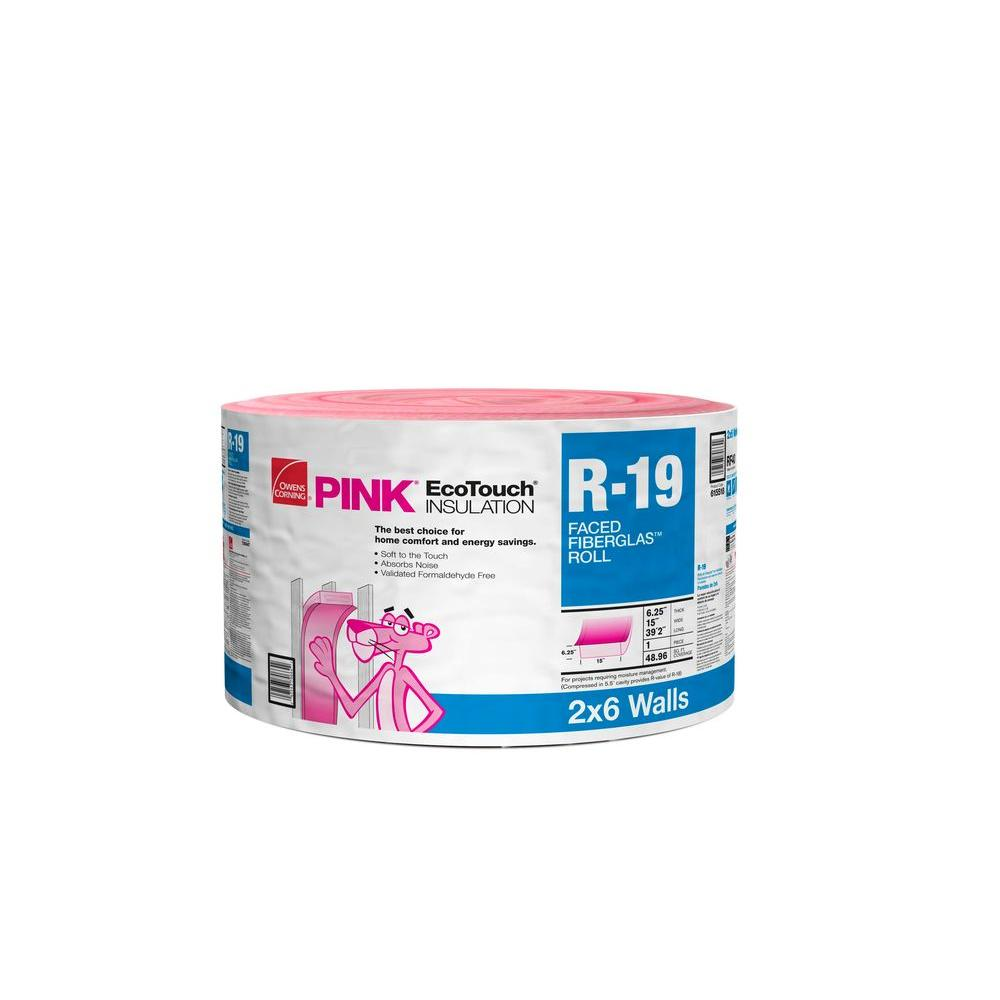 Owens Corning R-19 Kraft Faced Insulation Continuous Roll 15 in. x 470.4 in.