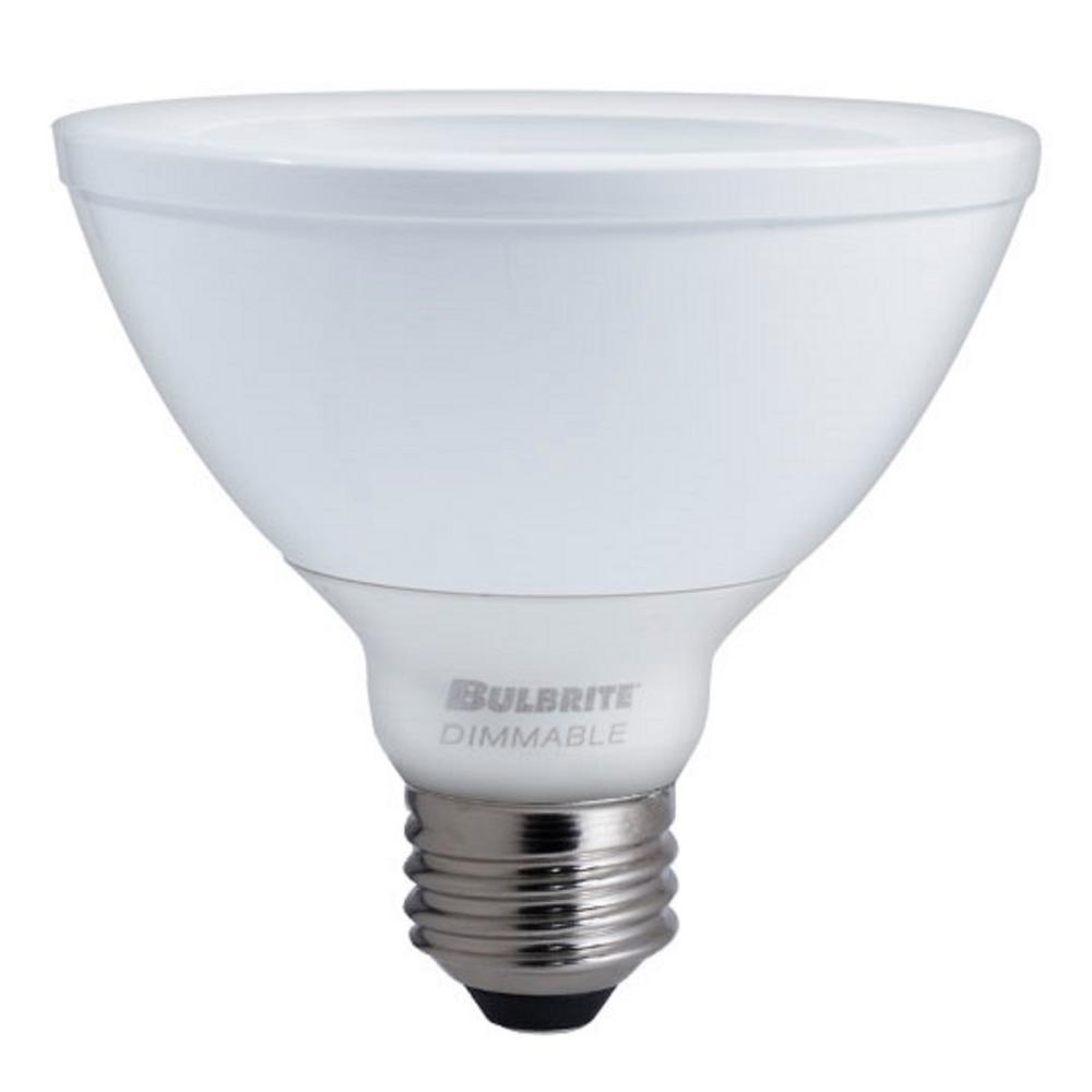bulbrite 75w equivalent soft white light par30sn dimmable led with flood light bulb 773365 the. Black Bedroom Furniture Sets. Home Design Ideas